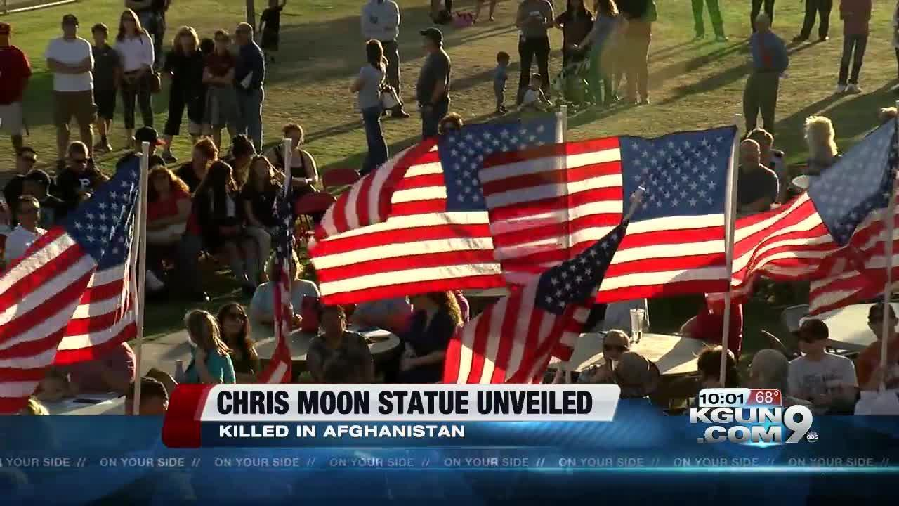 Chris Moon statue unveiled