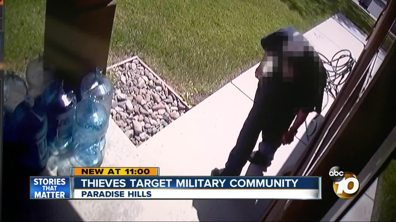 Thieves target military community