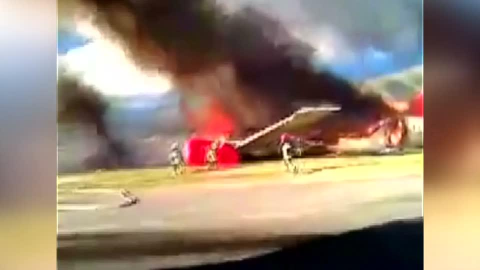 Peruvian plane catches fire, forces emergency landing