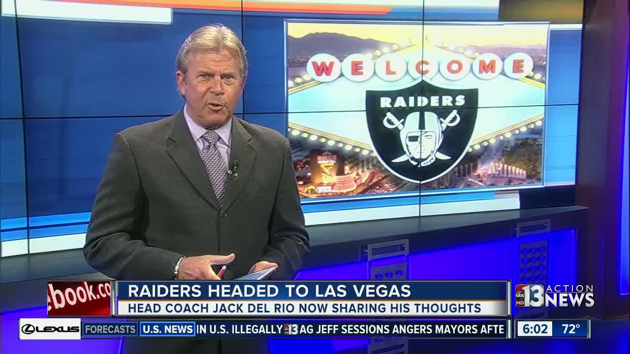 Raiders coach Jack Del Rio comments on Las Vegas move