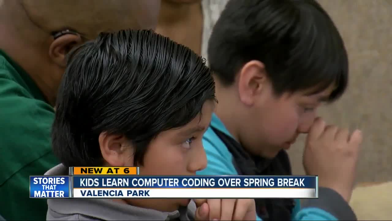 Kids are learning coding over spring break