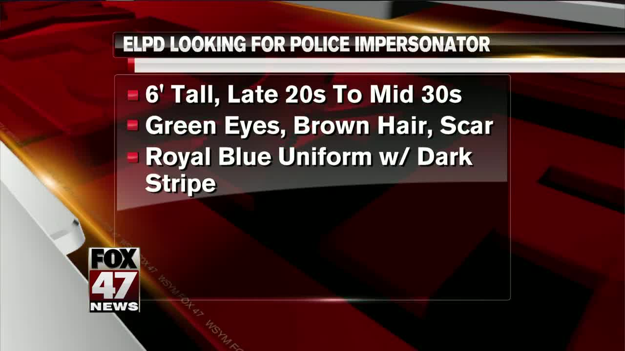 ELPD warning: Man impersonating police
