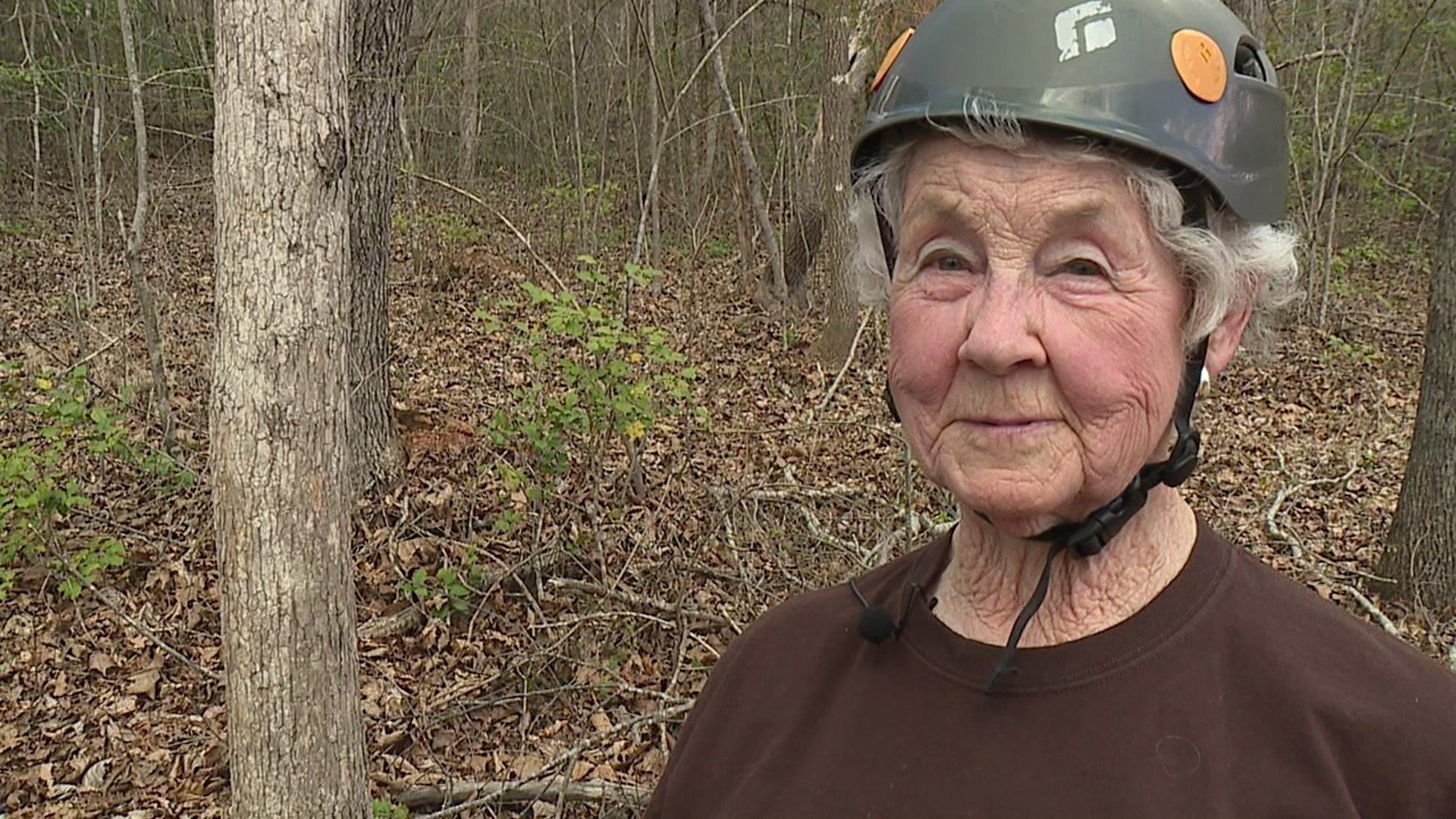 91-Year-Old Woman Goes Ziplining for First Time