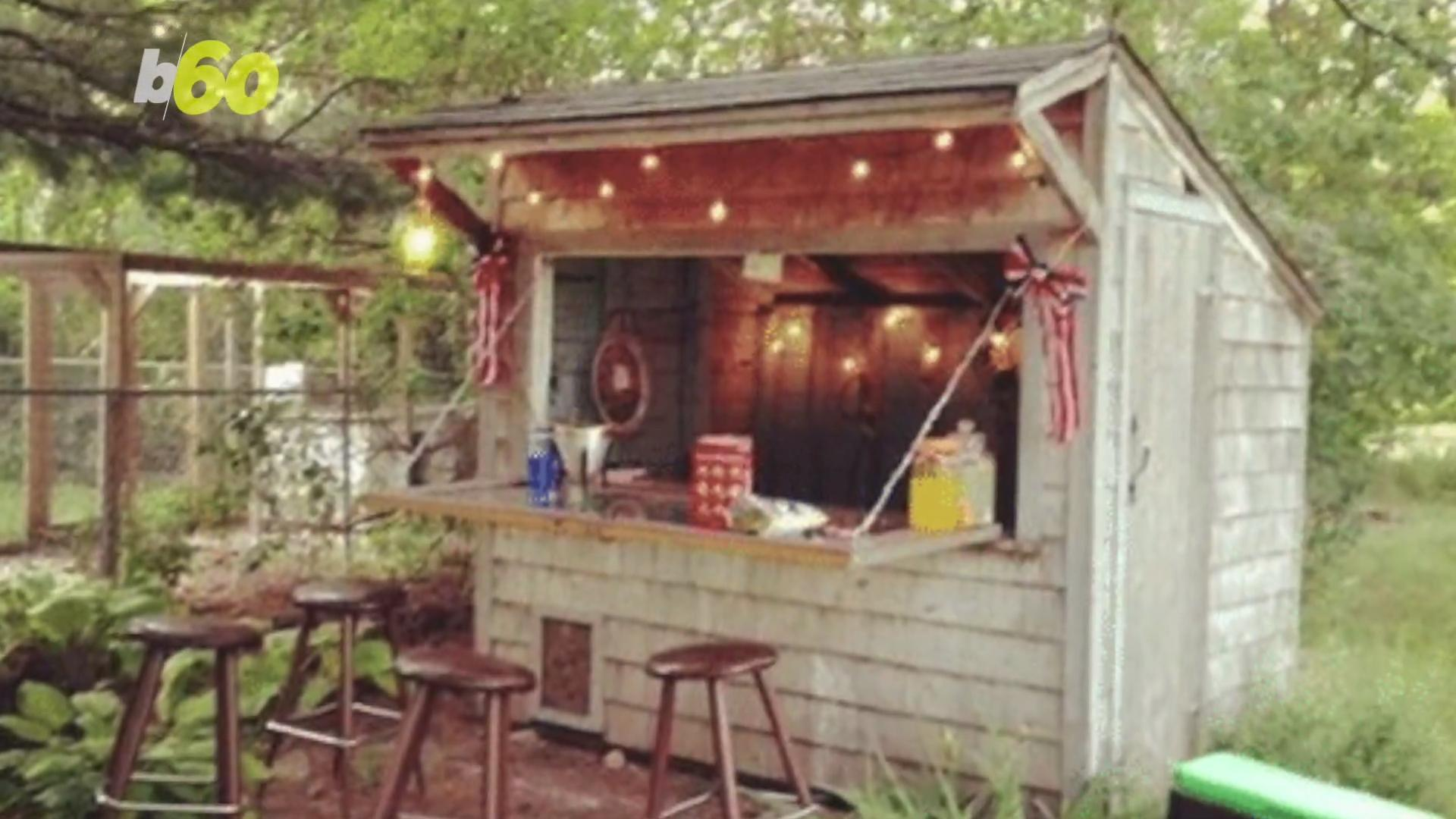 Forget the Man Cave, Backyard Bar Sheds Are the Way to Go