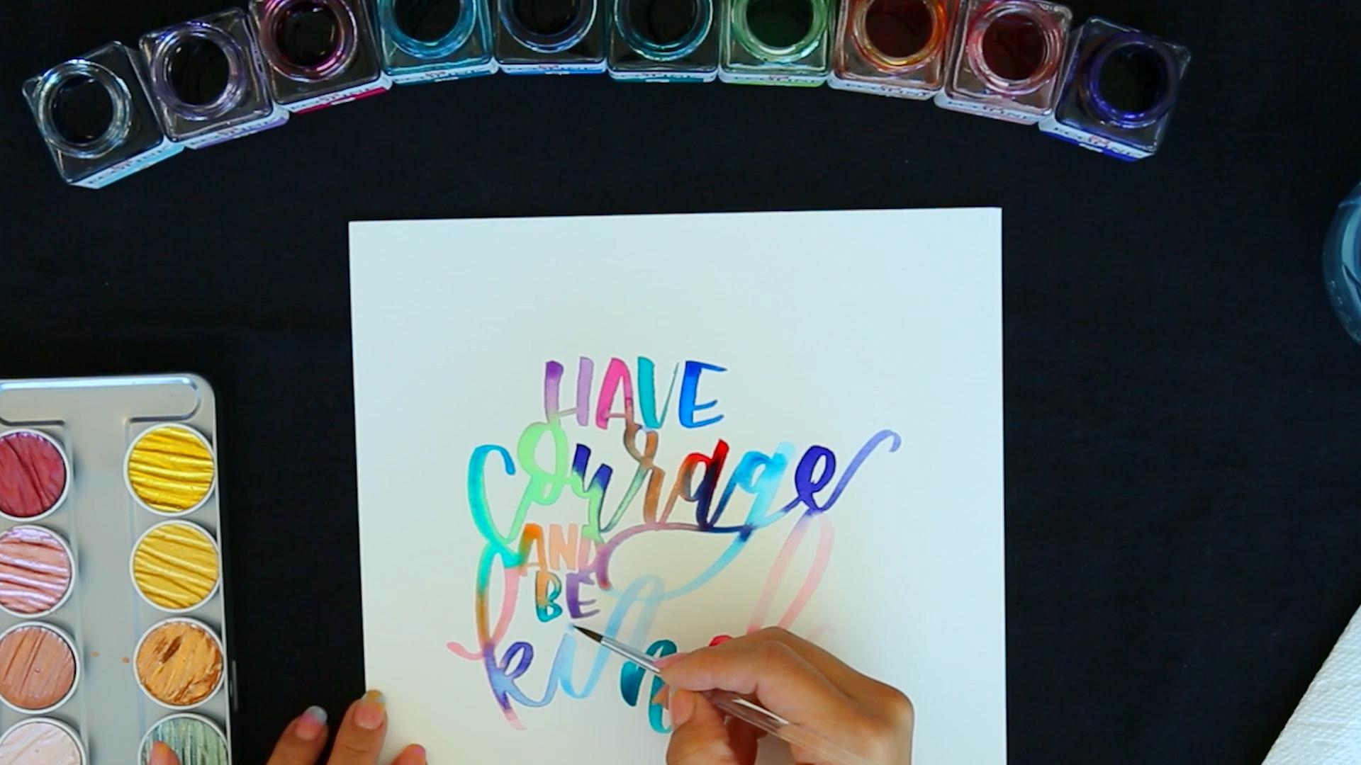 This Watercolor Brush Lettering by Jenmanship is Mesmerizing