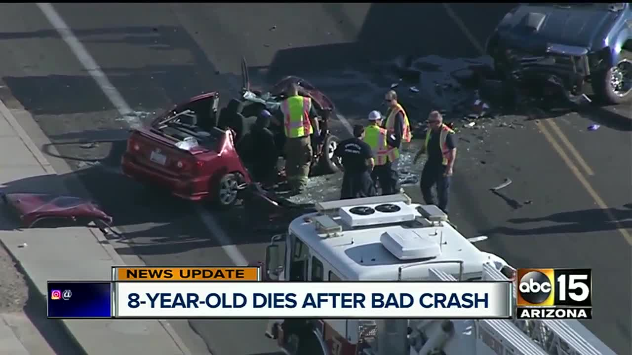 NEW: Young girl dies after north Phoenix car crash