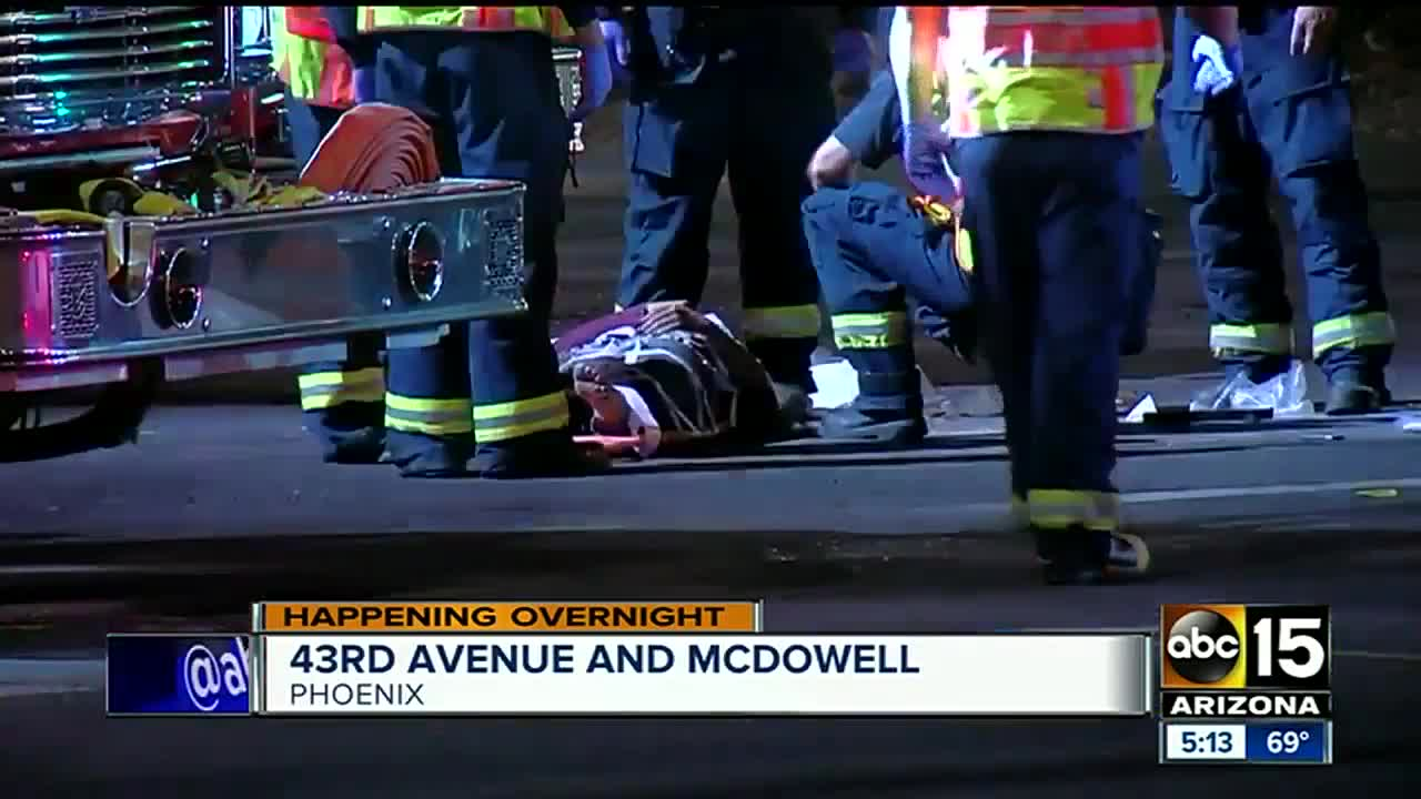 One taken to hospital after crash at 43rd Ave and McDowell