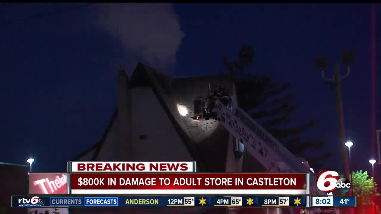 BREAKING: Adult store in Castleton goes up in flames overnight