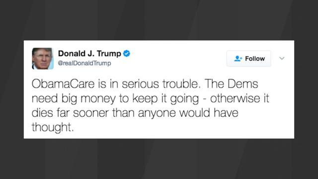 President Trump Says Obamacare Will Die 'Far Sooner' Without 'Big Money'