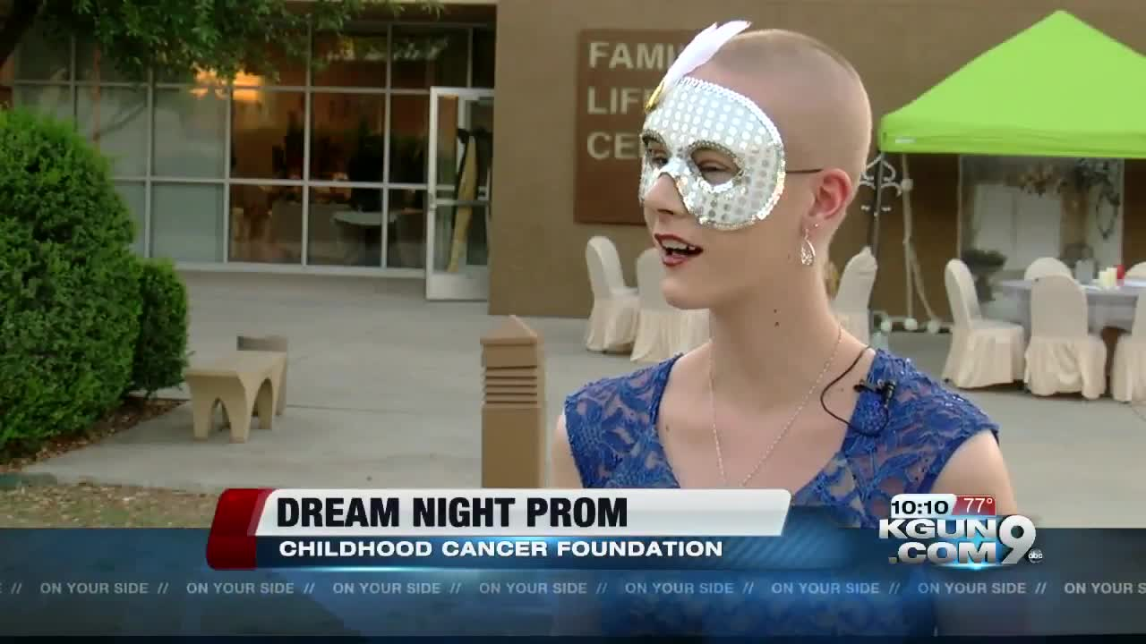 Teens being treated for cancer attend Dream Night Prom