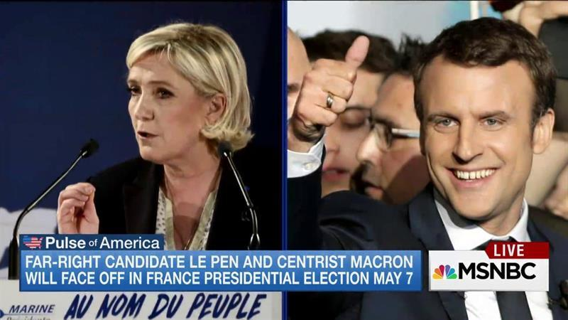 Marine Le Pen, Centrist Macron To Face Off in French Election