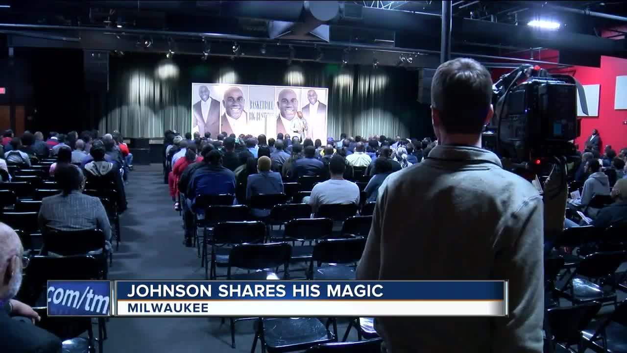 "Ervin ""Magic"" Johnson spoke in Milwaukee this weekend"
