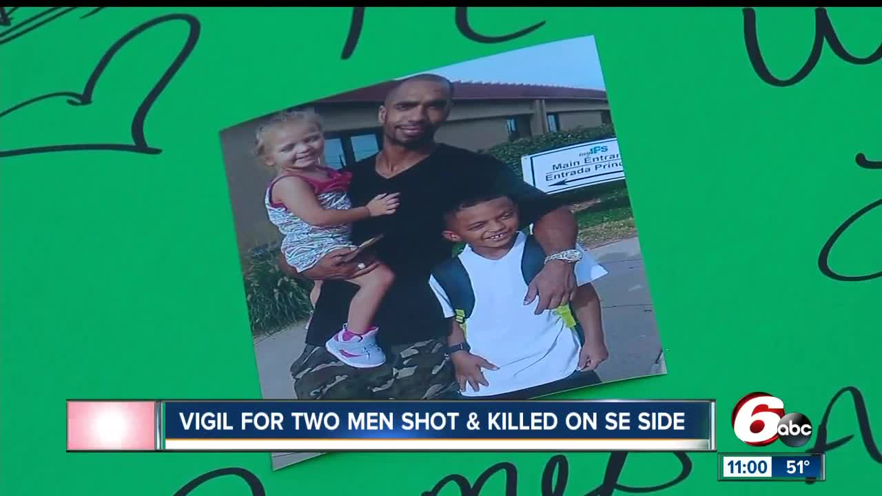 Vigil held for two men shot and killed on Indy's southeast side