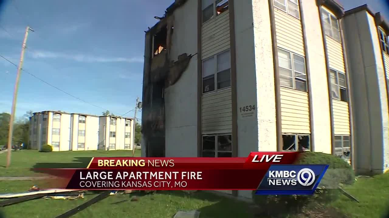 Woman believes fire started in her ground-floor apartment