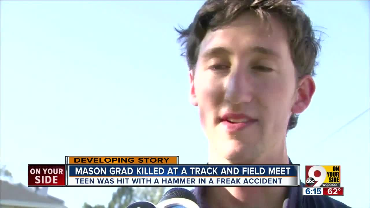 Mason High School graduate Ethan Roser killed in track and field accident near Chicago