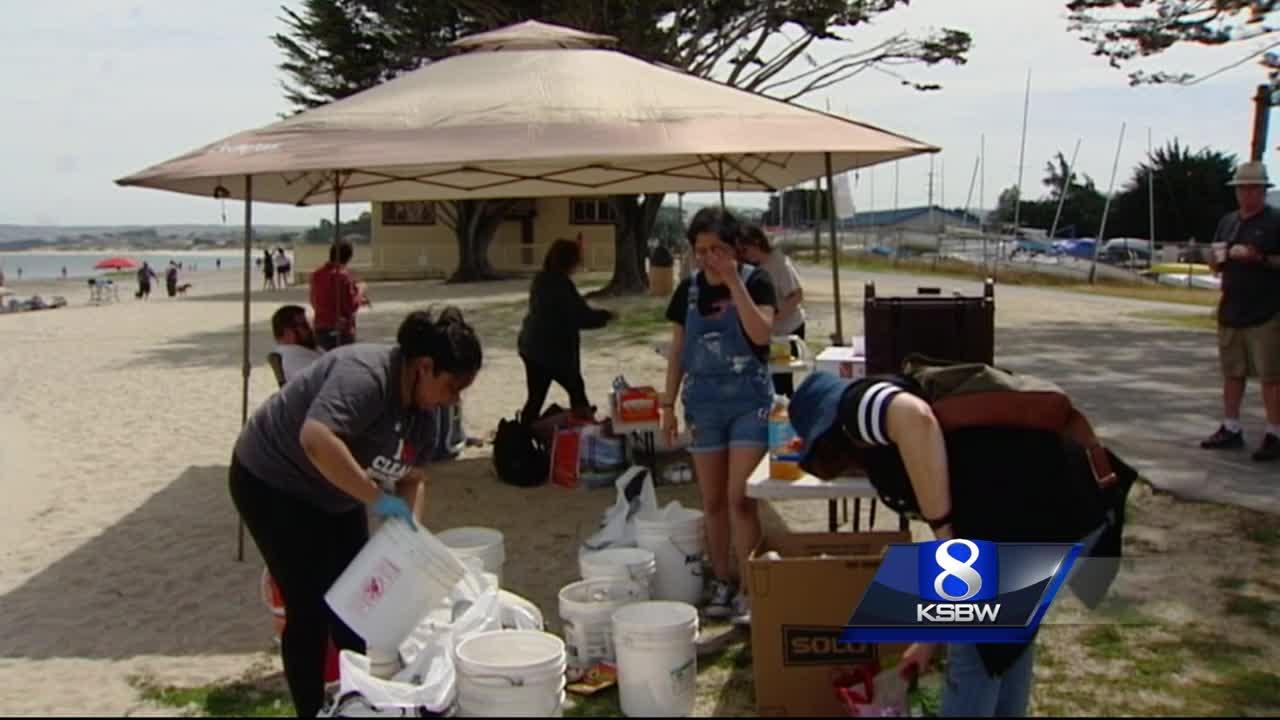 Over 1000 pounds of trash from Central Coast beaches on Earth Day