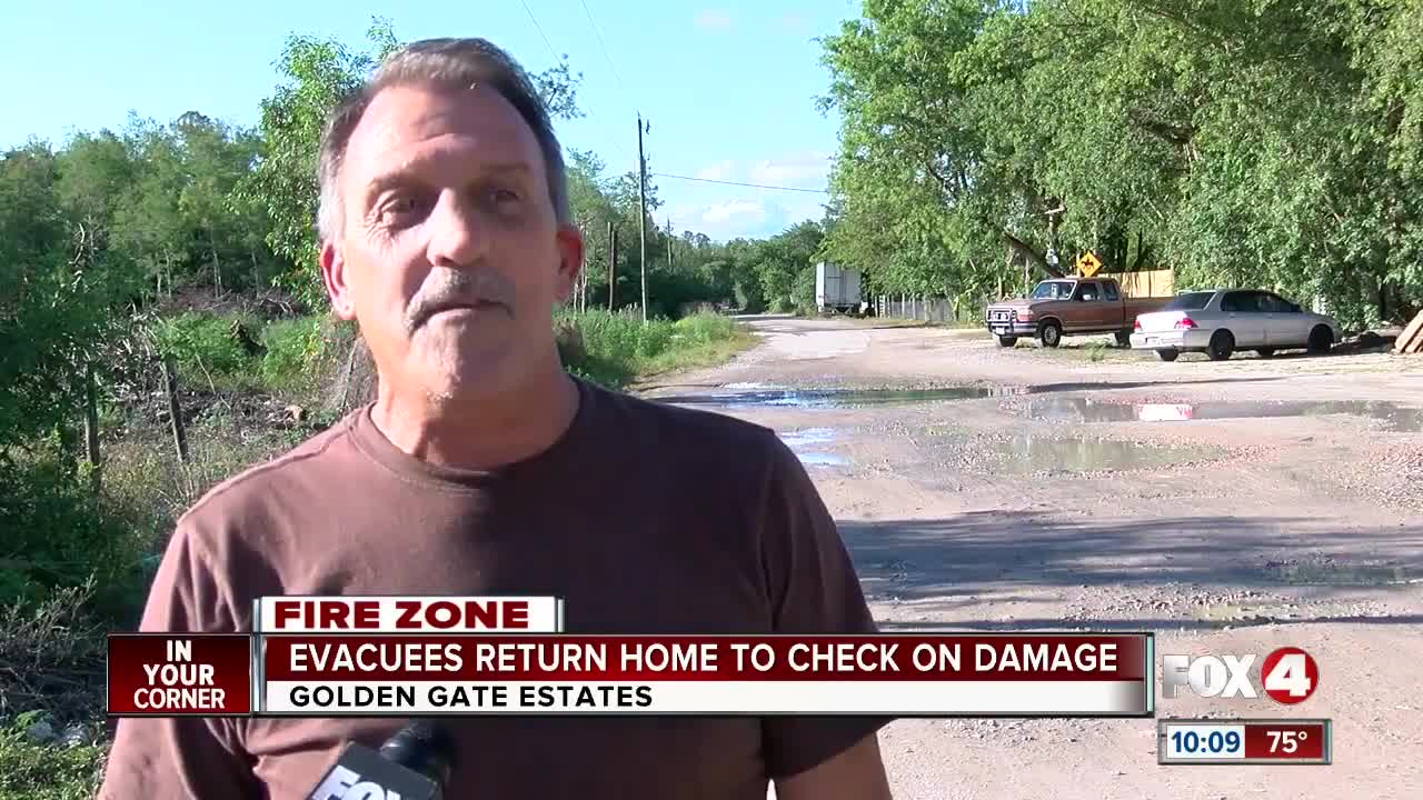 Evacuees return home to check on damage