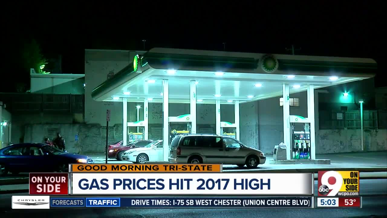 Gas prices reach new high for 2017