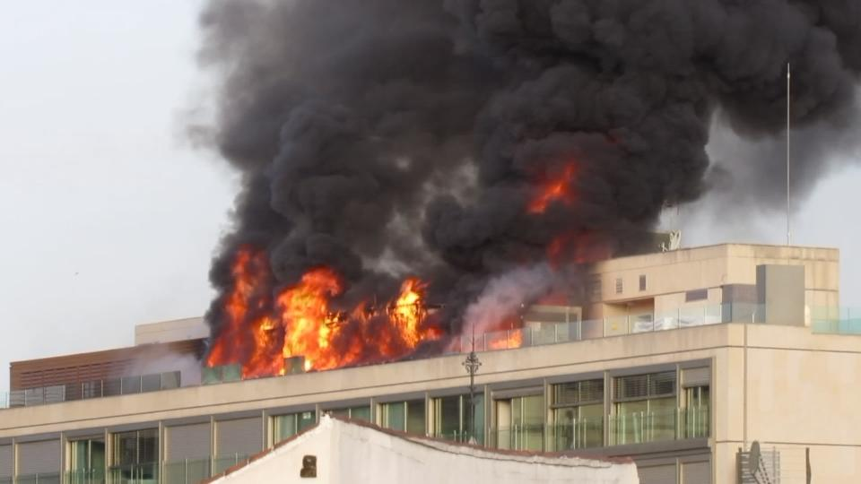 Fire breaks out in Madrid hotel