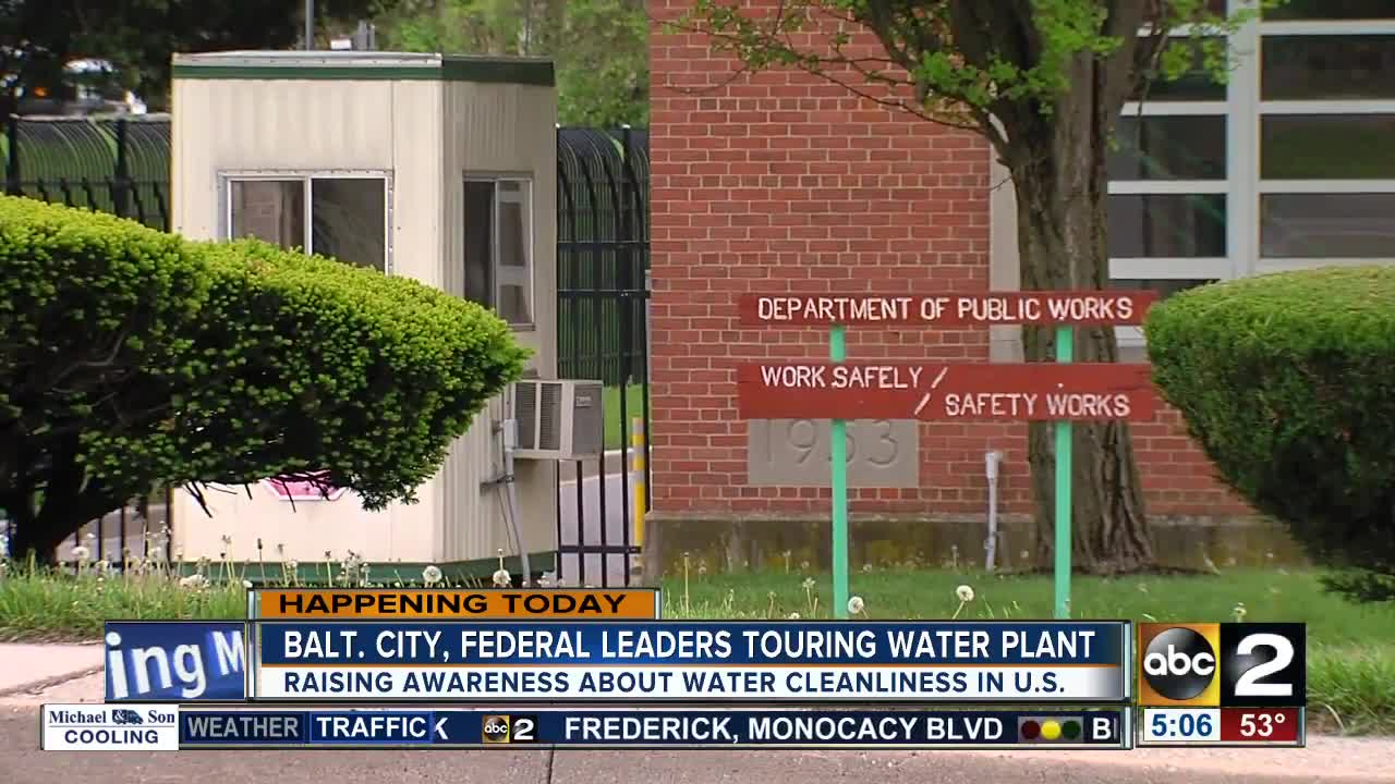 City, federal leaders tour Ashburton Filtration Plant in Baltimore
