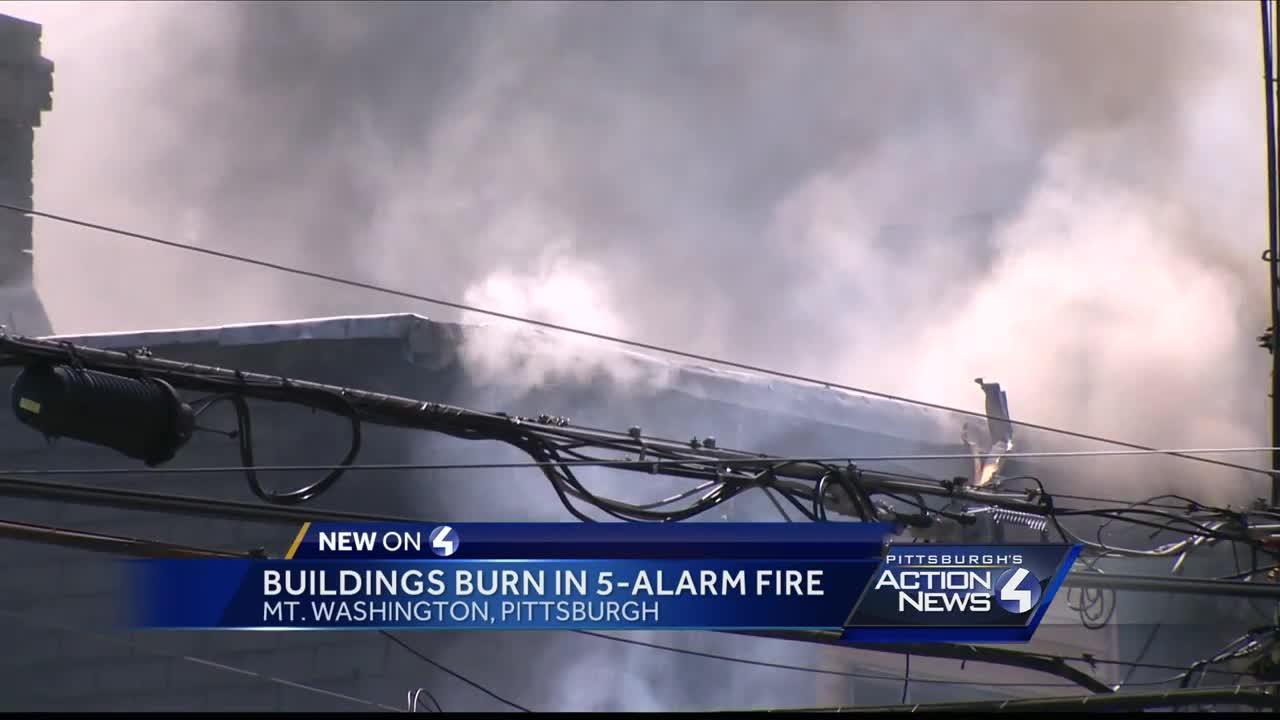 5-alarm fire destroys buildings in Mt. Washington
