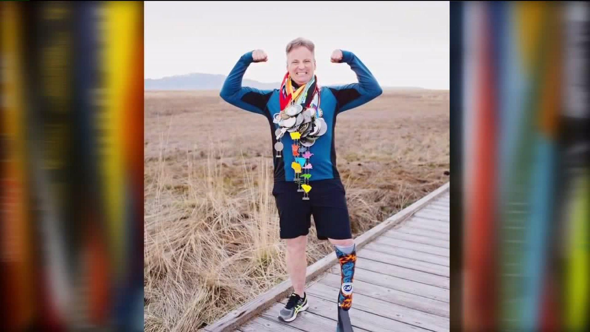 Man with Prosthetic Leg Completes a Marathon in All 50 States
