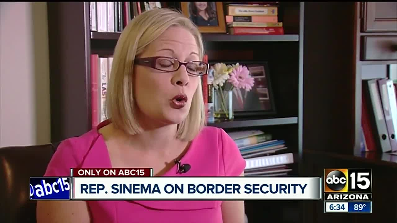 Kyrsten Sinema talks with ABC15 about border wall, health care