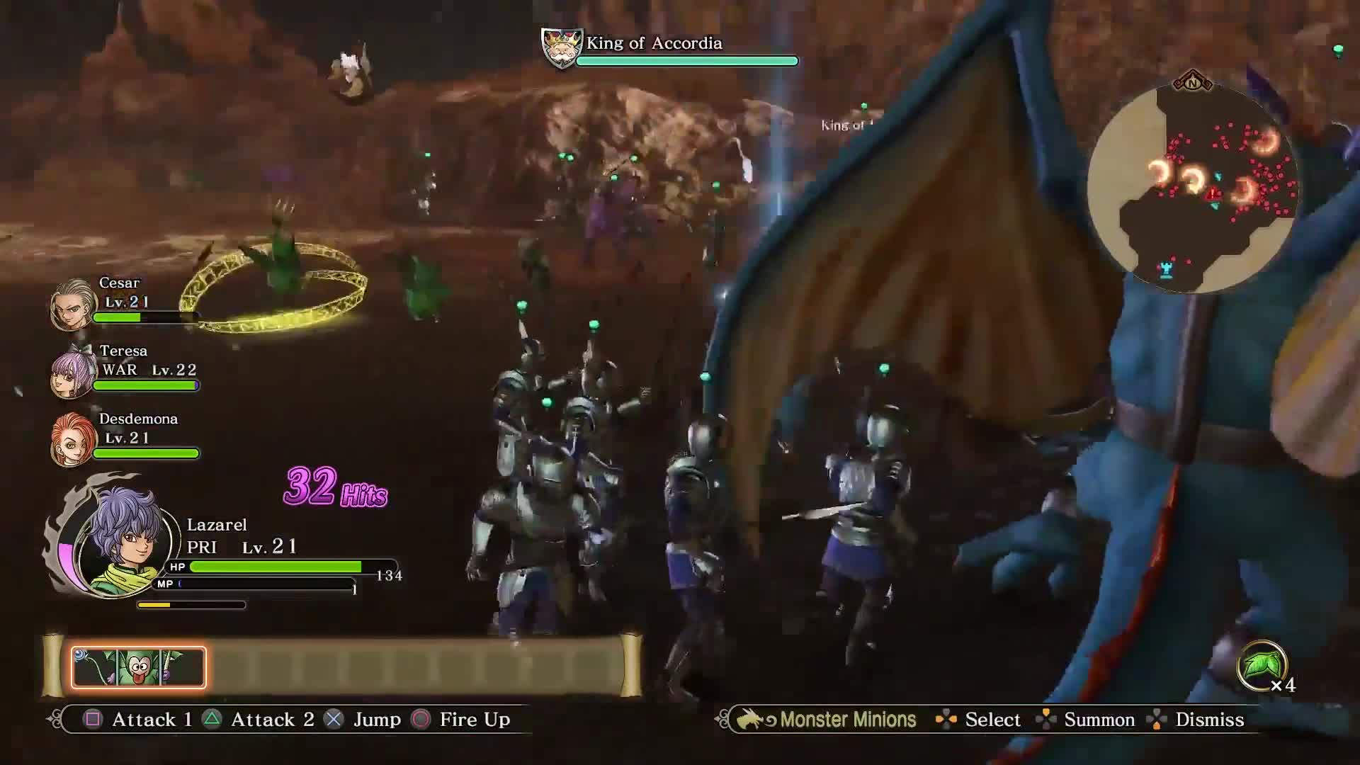 Dragon Quest Heroes 2 - Going To War Gameplay