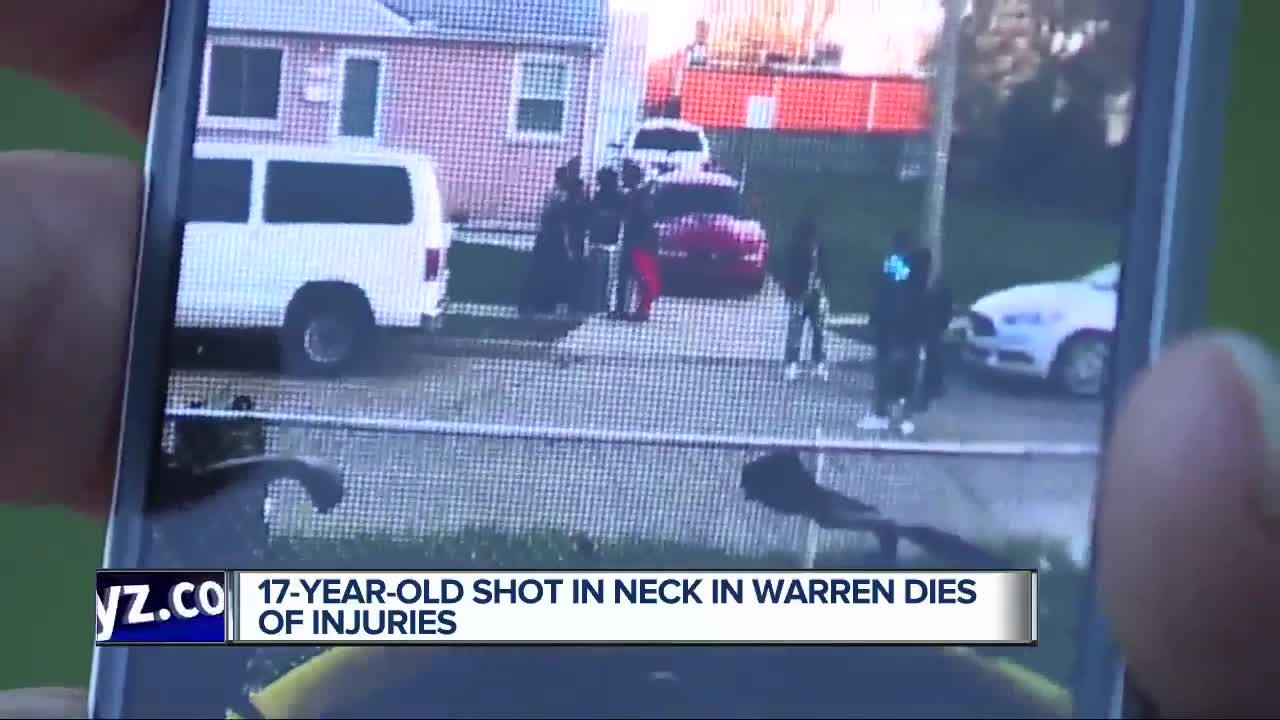 17-year-old shot in neck dies