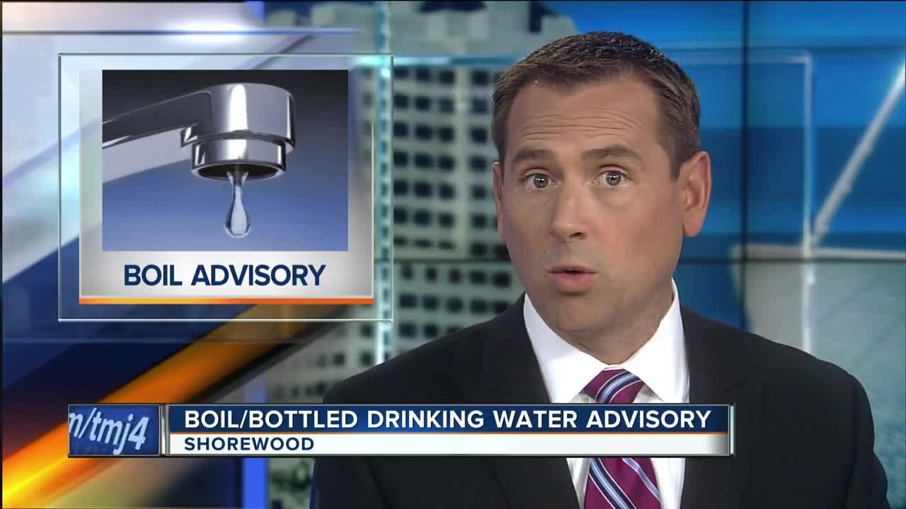 Shorewood issues precautionary boil, bottled drinking water advisory