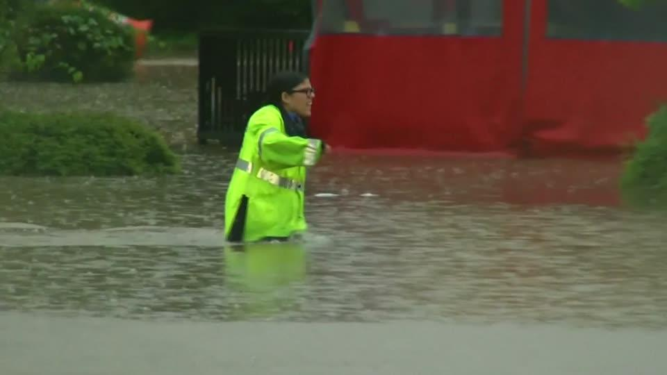 Flooding swamps North Carolina
