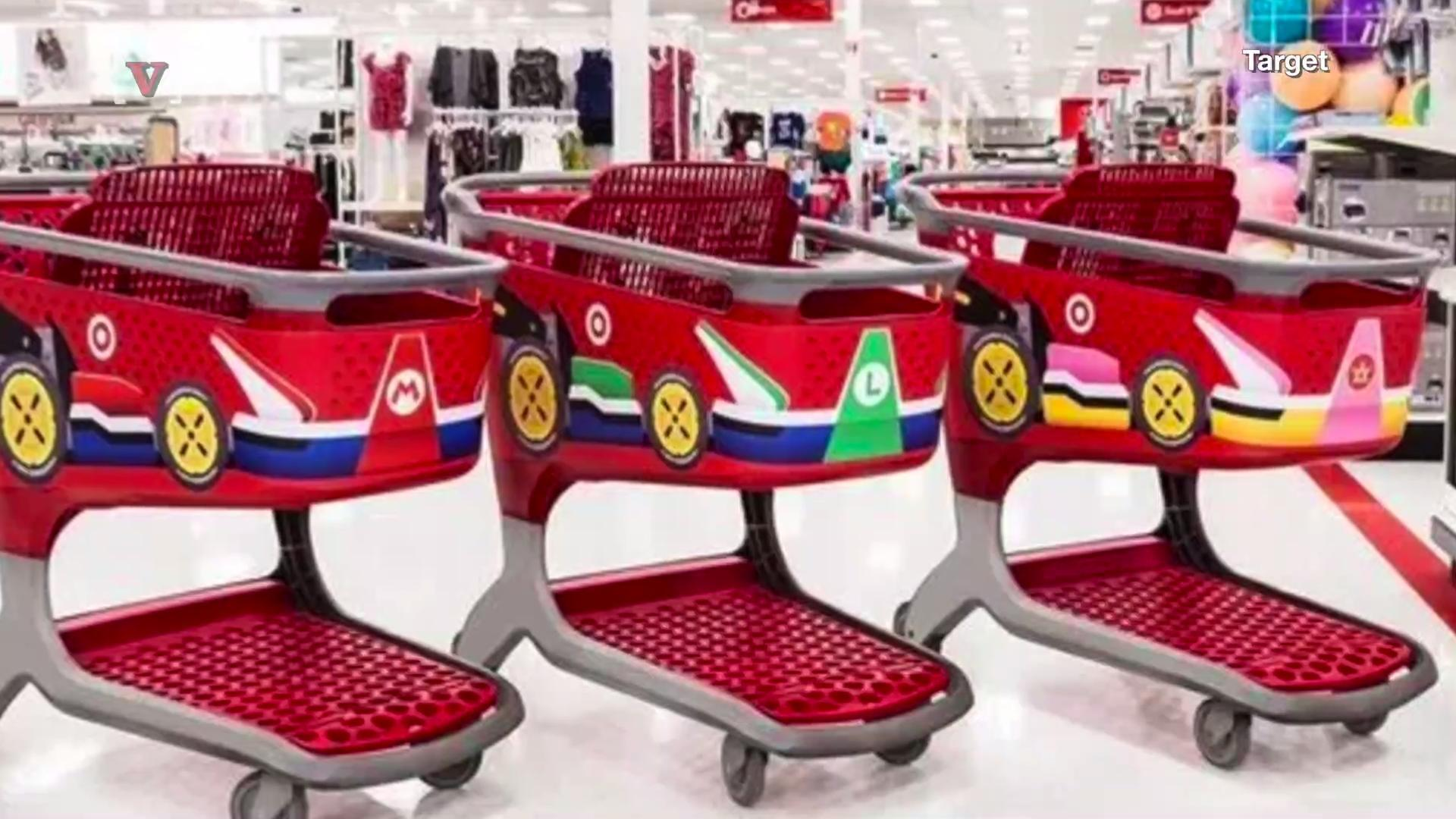 Target Now Has Mario Kart Shopping Carts