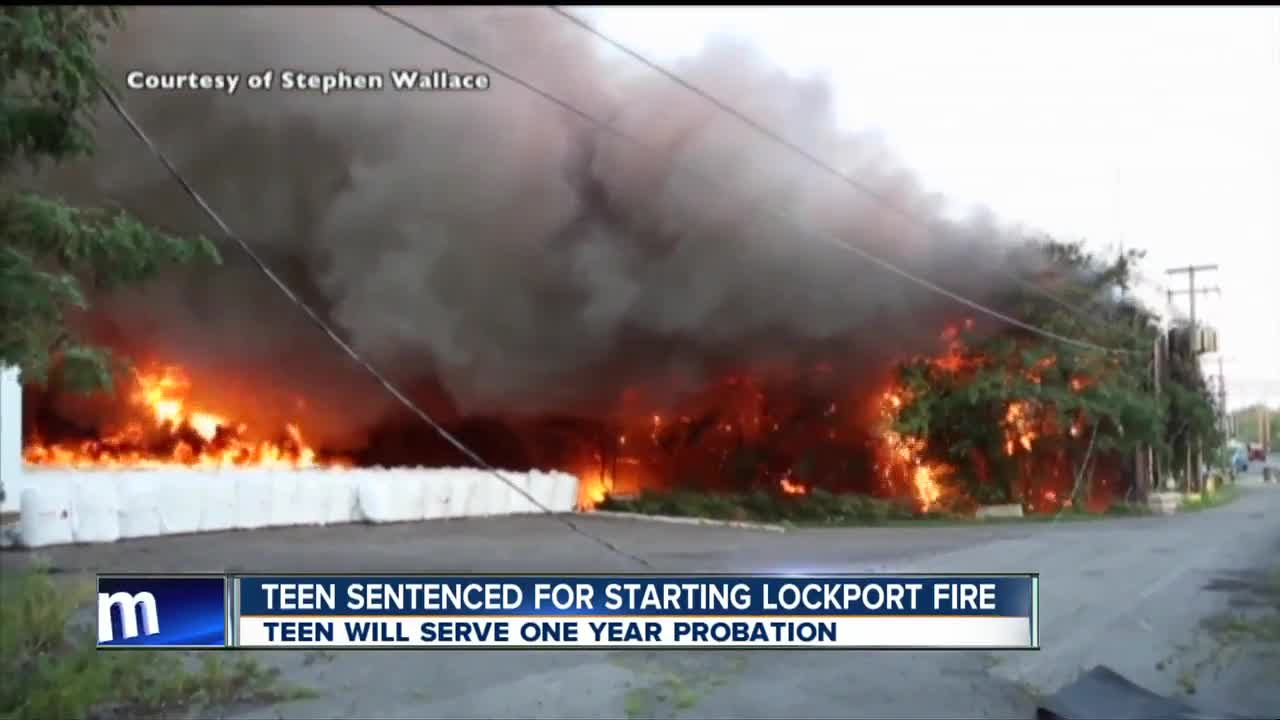 Teen sentenced in connection to Lockport fire