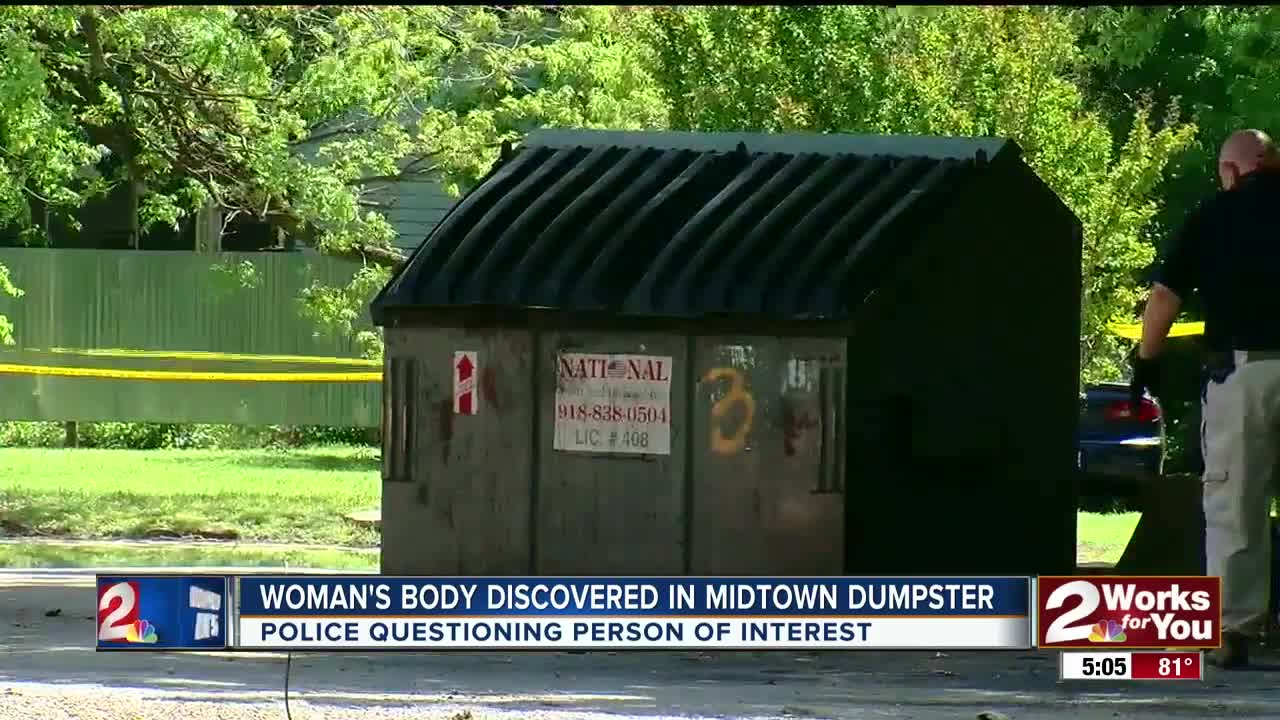 Woman's body found in midtown dumpster
