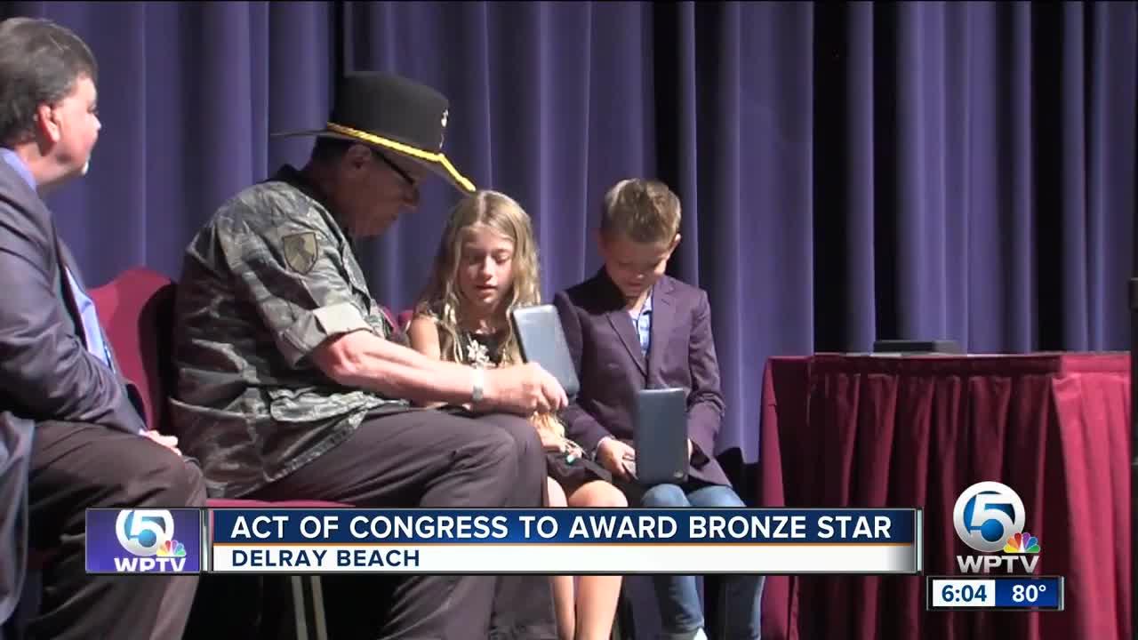 Act of Congress to award bronze star