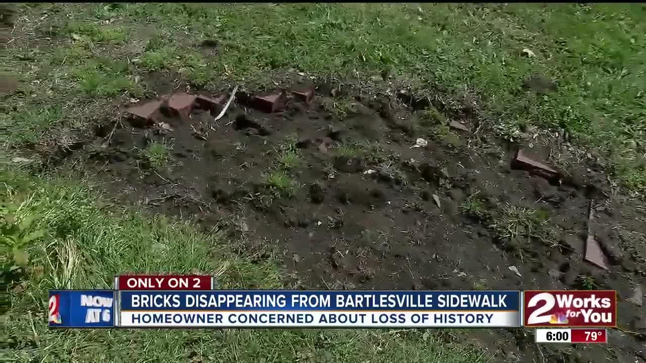 Bricks stolen from Bartlesville sidewalk