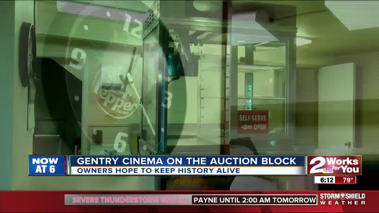 Historic Gentry Cinema on the auction block