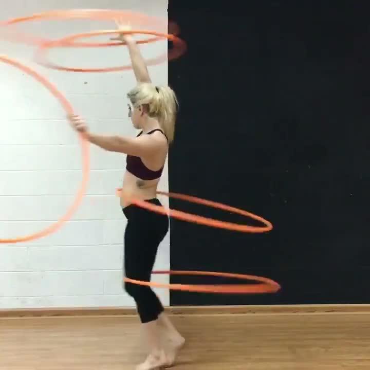 Girl Practices Multi-hooping