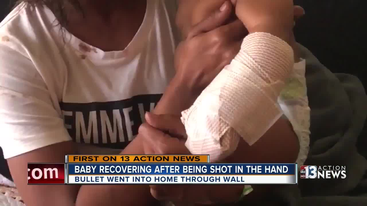 Mother speaks out after baby shot by stray bullet