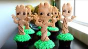 How to Make Baby Groot Cupcakes