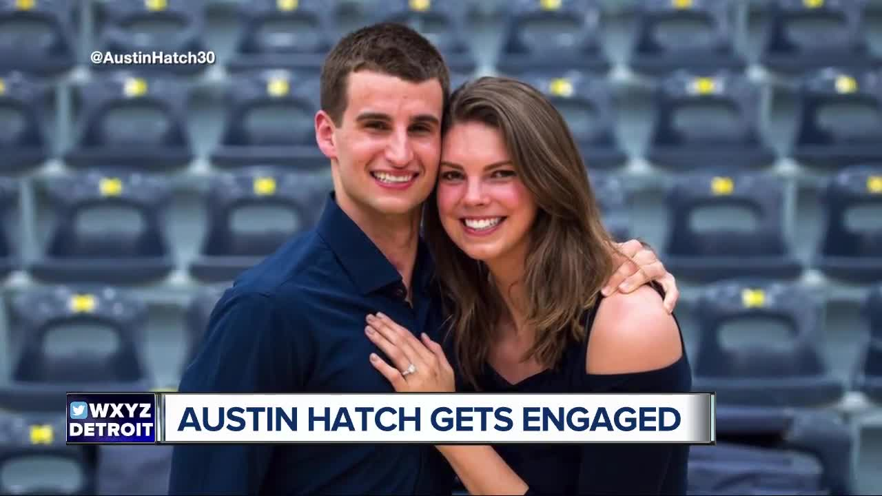 Michigan Basketball's Austin Hatch gets engaged