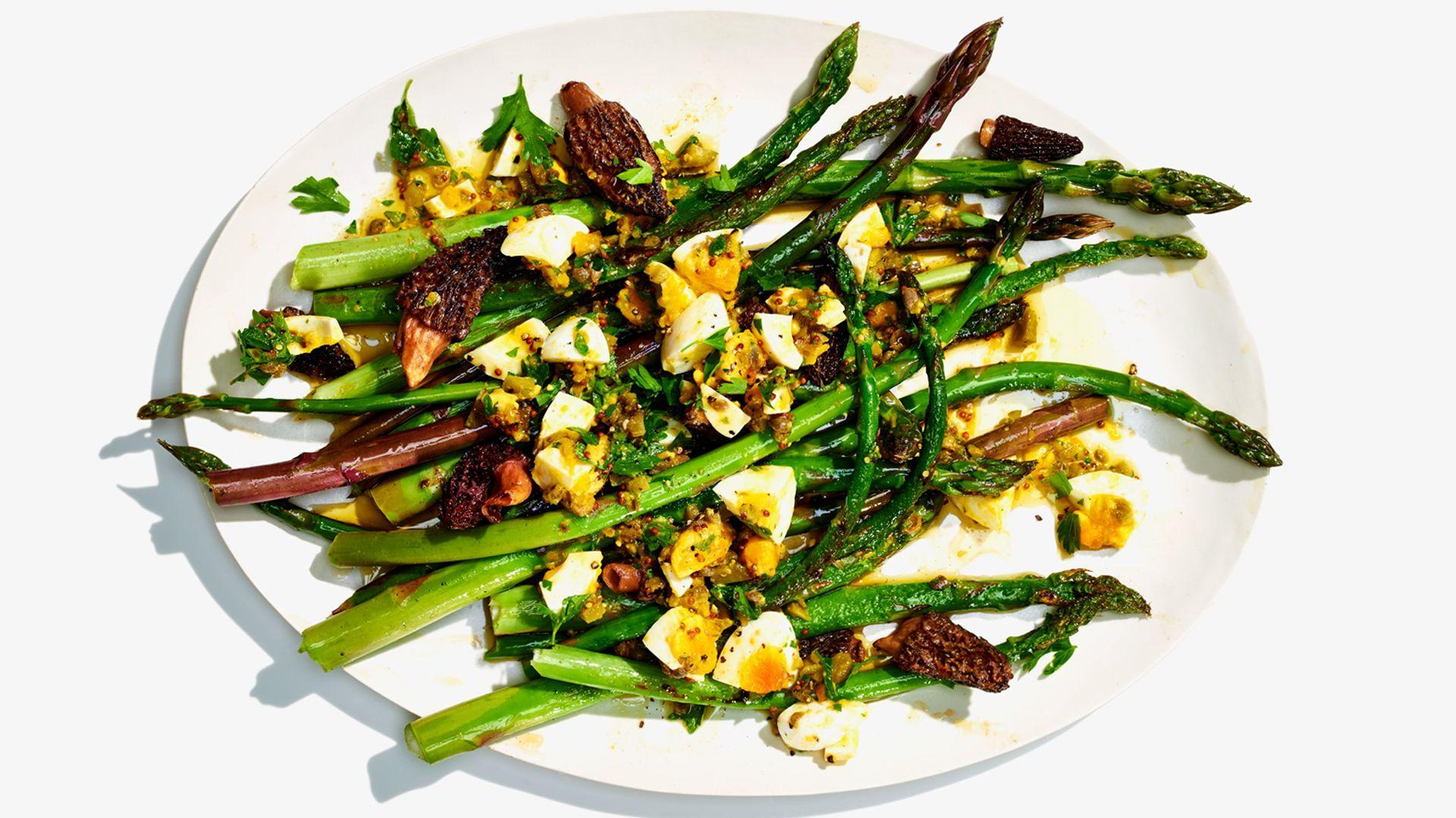 Sauteed Asparagus with Gribiche Dressing