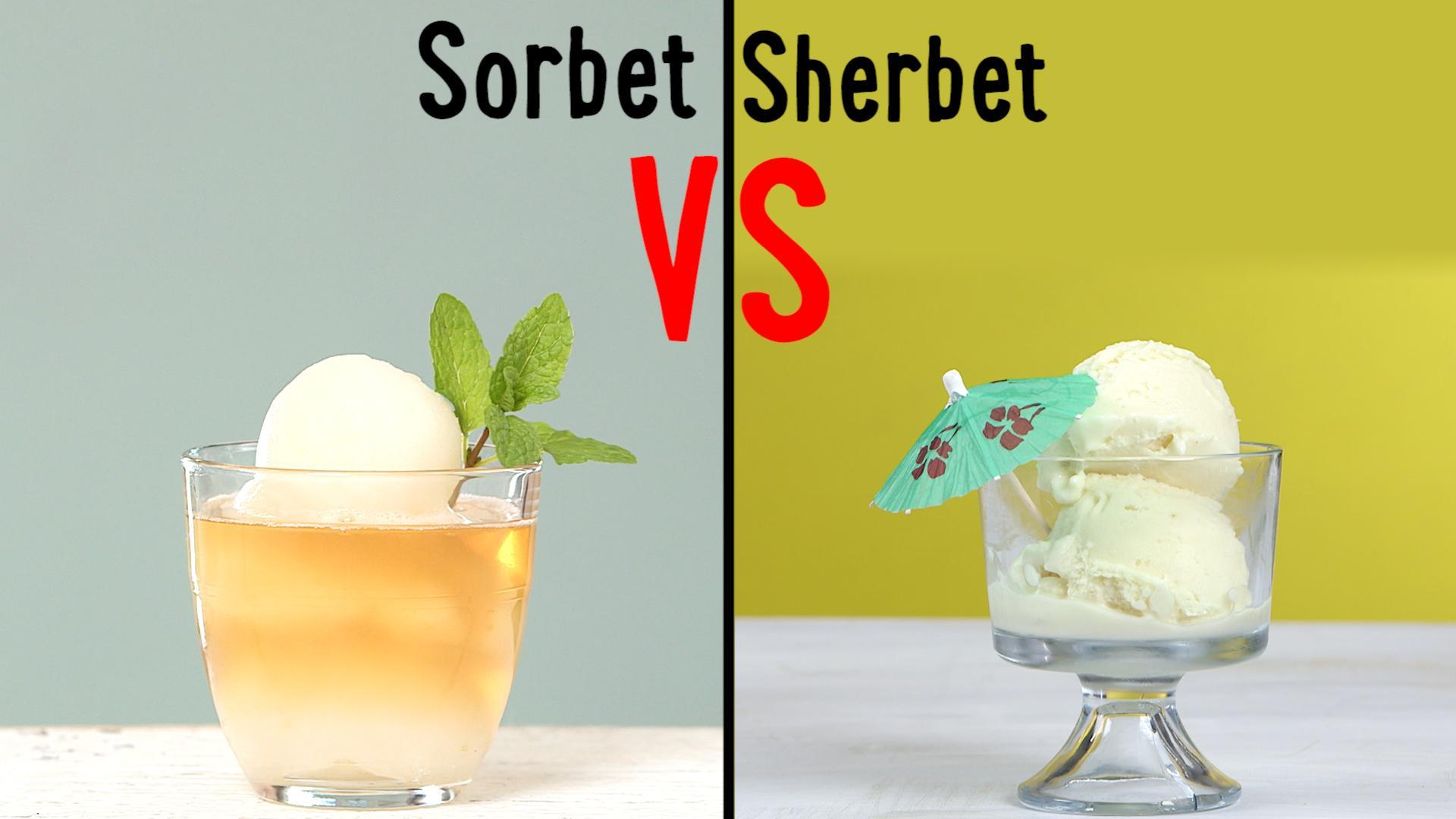 What's the Difference Between Sorbet and Sherbet?
