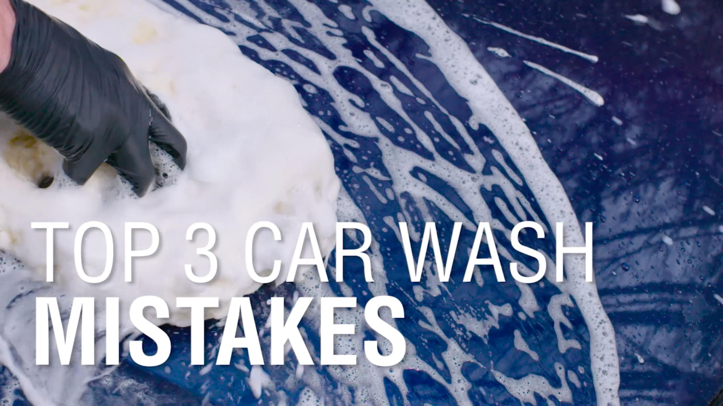 Top 3 Car Washing Mistakes