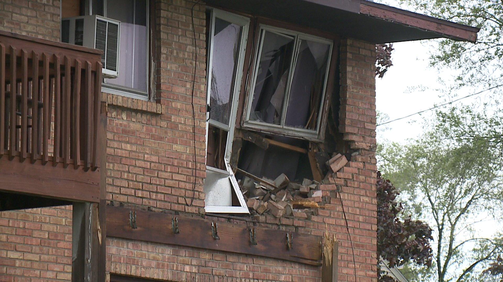 Van Flies Into Second-Story Apartment After Crash