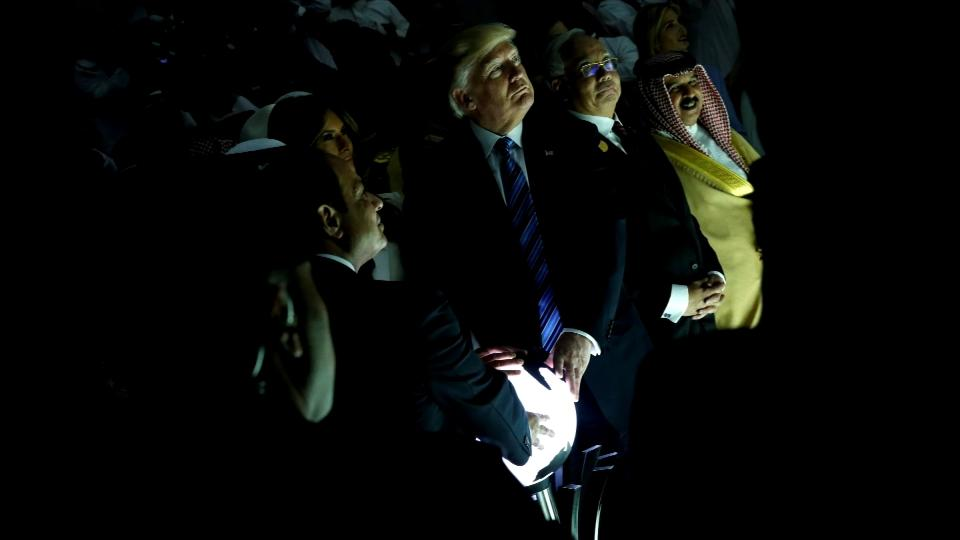 Trump's encounter with glowing orb sets alight social media