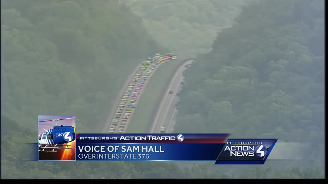 Crash causes six miles of backups on Parkway West