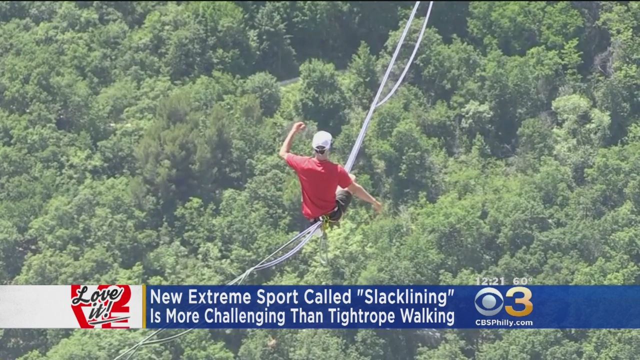 Love It: New Extreme Sport Slacklining is More Challenging Than Tightrope Walking