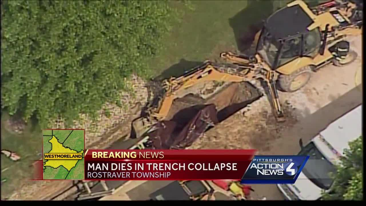 Man dies in Rostraver trench collapse