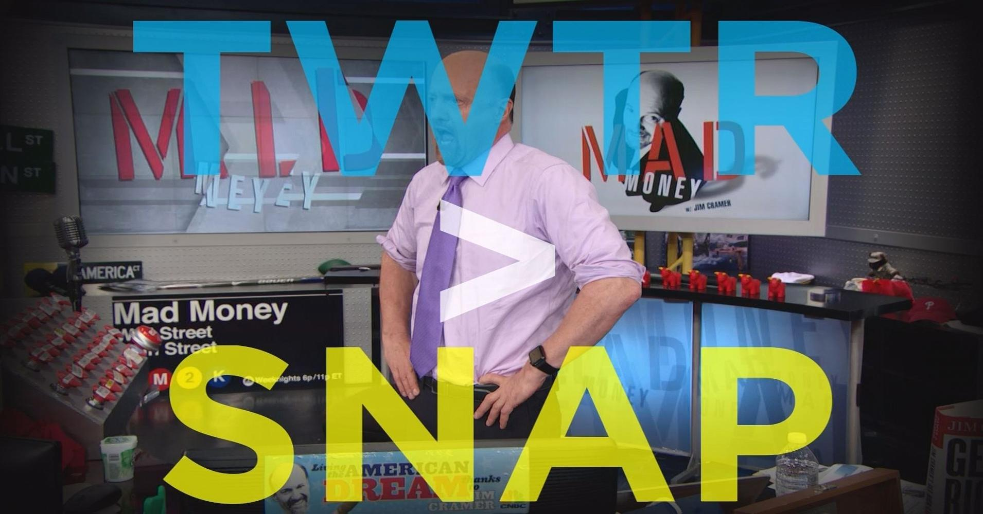 Cramer Remix: Why I like Twitter over Snapchat